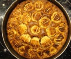 Badischer Apfelkuchen mit Schokostreusel