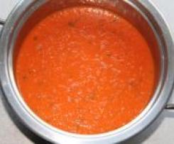 Ratz-Fatz Tomatensuppe mit Knoblauch