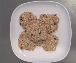 vegane Cranberry-Hafer-Kekse