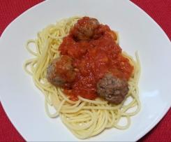 Hackfleischbällchen mit Tomatensoße für Spaghetti alla Susi