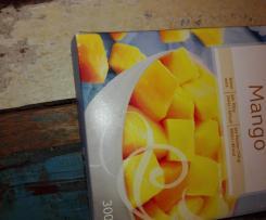 Mango- Sorbet mit Dattelstückchen