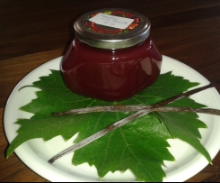 Weintrauben-Gelee mit Vanille und Minze