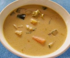 Indisches Gemüsecurry (vegetarisch)