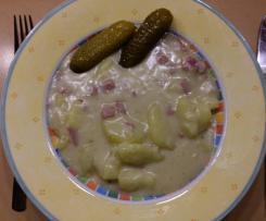 Béchamelkartoffeln mit angebratener Salami
