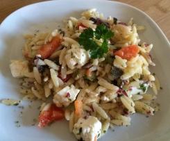 Risoni-Salat mit Feta & Oliven (Finessen 03/2014)