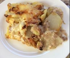 Kartoffel-Kohlrabi-Auflauf mit Hackfleisch