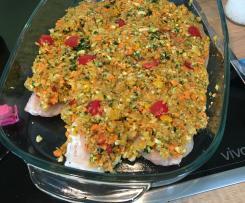 Fischfilet mit Gemüsehaube