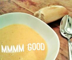 Süßkartoffel-Kokosmilch-Suppe, vegan