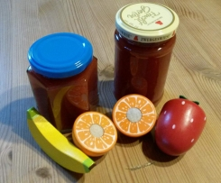 Multifrucht Marmelade (Erdbeer-Banane-Apfel-Orange Marmelade)