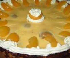 Aprikosenkuchen mit Guss