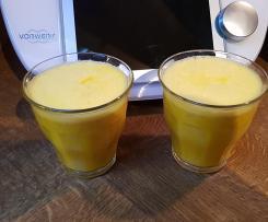 Ingwer Shot  (Ingwer-Kurkuma-Knoblauch-Zitronen-Trunk) bei Erkältung