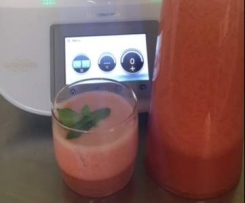 Erdbeerlimonade Limo Erdbeeren vegan, schnell einfach u günstig
