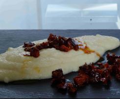 Selleriepüree mit karamellisierter Chorizo