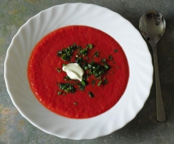 Rote Beete Suppe mit Lauch