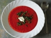 Rote-Bete-Suppe mit Lauch