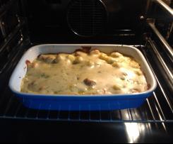 Kartoffel Möhren Würstchen Auflauf
