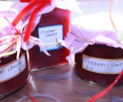 Erdbeermarmelade mit Vanille 75% Frucht