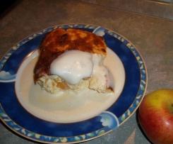 Apfel-Quark-Auflauf mit cremiger Vanillesoße