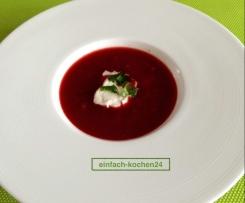 Rote-Bete-Suppe VEGAN, kalorienarm, gesund