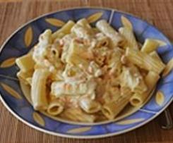 Rigatoni mit Lachs-Sahne-Soße