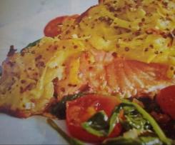 Lachs mit Kartoffel-Senf-Kruste