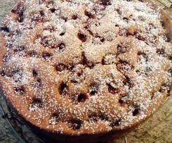 Eiweiss-Kirschkuchen, glutenfrei