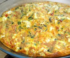 Frittata mit Spinat und Tomaten ( Low Carb )