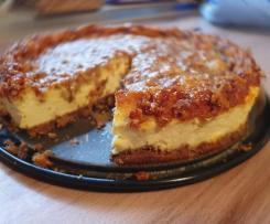 Cheesecake mit Spekulatiusboden und Nussdecke
