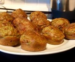 Käse-Schinken-Muffin mit Rucola
