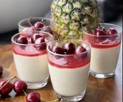 Ananas Kokos Griesspudding Pudding