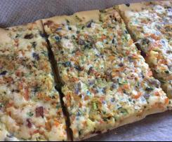 Gemüse-Speck-Pfannkuchen vom Blech