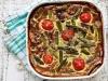 Quiche mit grünem Spargel, Bärlauch und Tomaten LOW CARB