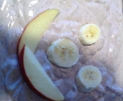 Blaubeere Apfel Bananen Quark
