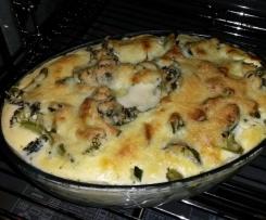 Brokkoli-Zucchini-Auflauf Lowcarb