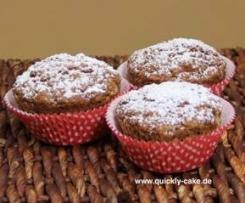 Ruck-Zuck-Muffins/ Kürbis-Mohn-Muffins mit nur 6EL Öl/VEGAN