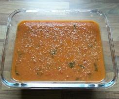 Fusilli mit Tomaten Kokos Soße