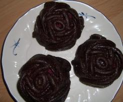 Kakao-Zucchini-Johannisbeeren Muffins, vegan