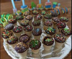 Kleine Kuchen in der Waffel