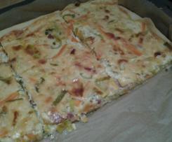Lauch-Speck-Blechkuchen