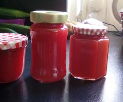 Variation Erdbeermarmelade mit Limettensaft