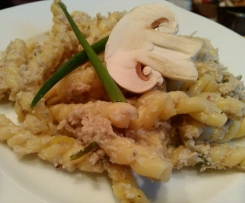 Champignonsoße mit Nudeln / Reis