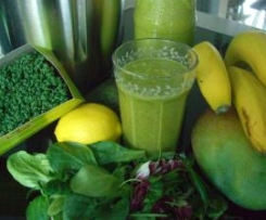 NEU-->Grüner Smoothie - Antioxidantien f Vitalität/Verjüngung u Figurkontrolle durch Chlorophyll in grünem Blattgemüse! Rohkost*