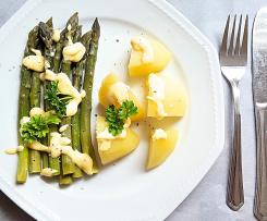 Spargel mit Zabaione All in One
