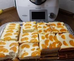 Käseblechkuchen mit Mandarinen Muttis Art
