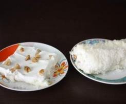"""Süße Türkische nachspeise """"Kremali Muhallebi lokumu"""""""