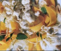 Sauerkraut mit Mango und Erdnüssen