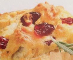 Rosmarin-Cranberry Muffins