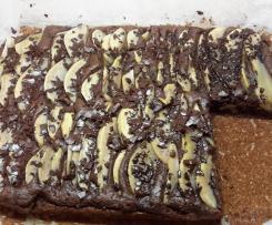 Variation Birnen-Schoko-Zucchini-Blechkuchen