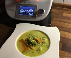 Brokkoli-Curry-Suppe oder Broccoli-Curry-Suppe