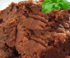 Variation von Auberginen-Brotaufstrich vegetarisch+gesund
